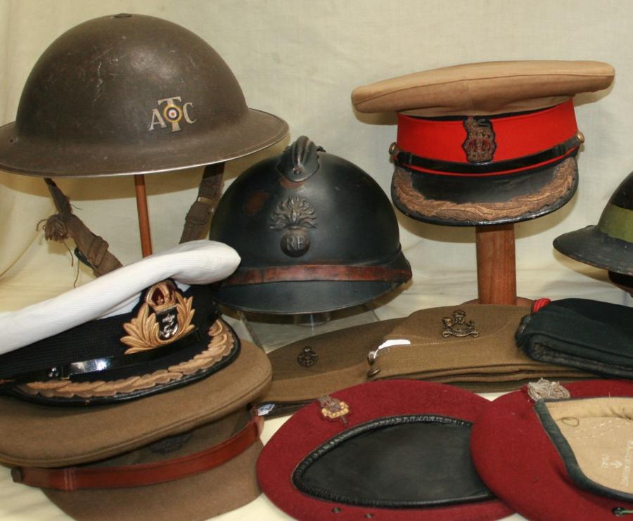 WWI & WII HELMETS & HEAD DRESS