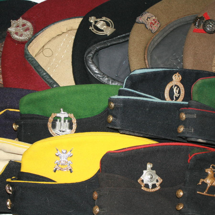 WWII SIDE CAPS & BERETS