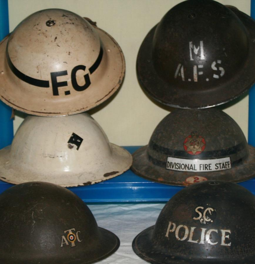WWII HOME FRONT HELMETS