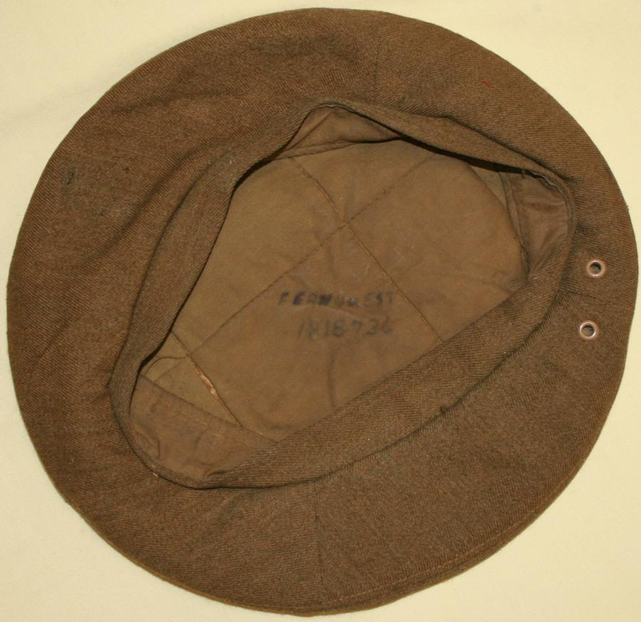 A WWII PERIOD GS BERET NO MARKINGS VISIBLE