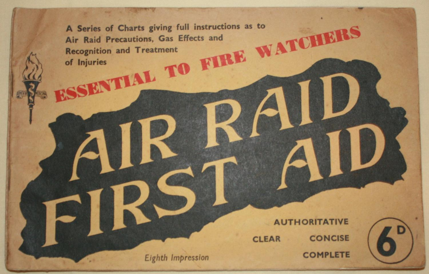 A WWII ARP 1ST AID BOOKLET