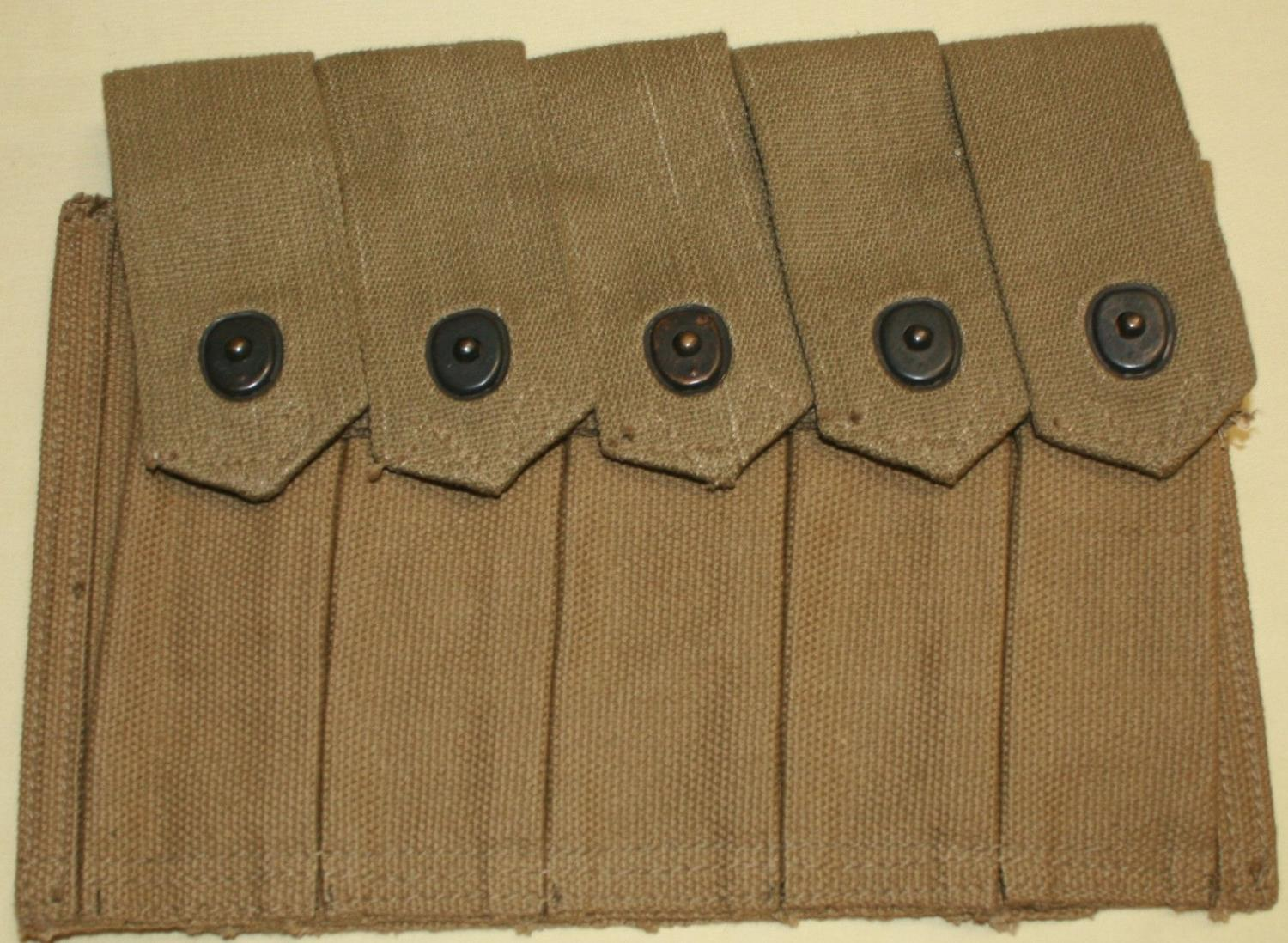 WWII 5 POCKET THOMPSON POUCH 1942 DATED