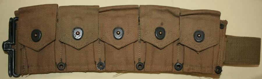 U.S. M1923 GARAND M1 CARTRIDGE BELT 1943