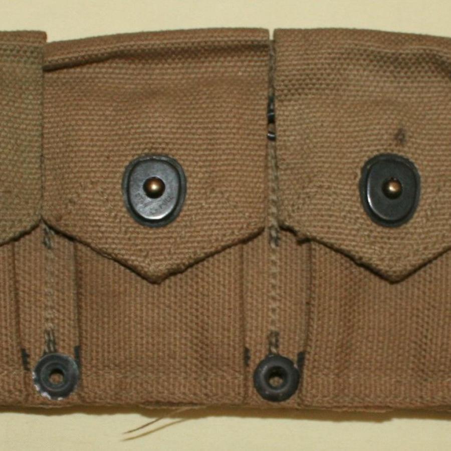 U.S. M1923 GARAND M1 CARTRIDGE BELT 1943