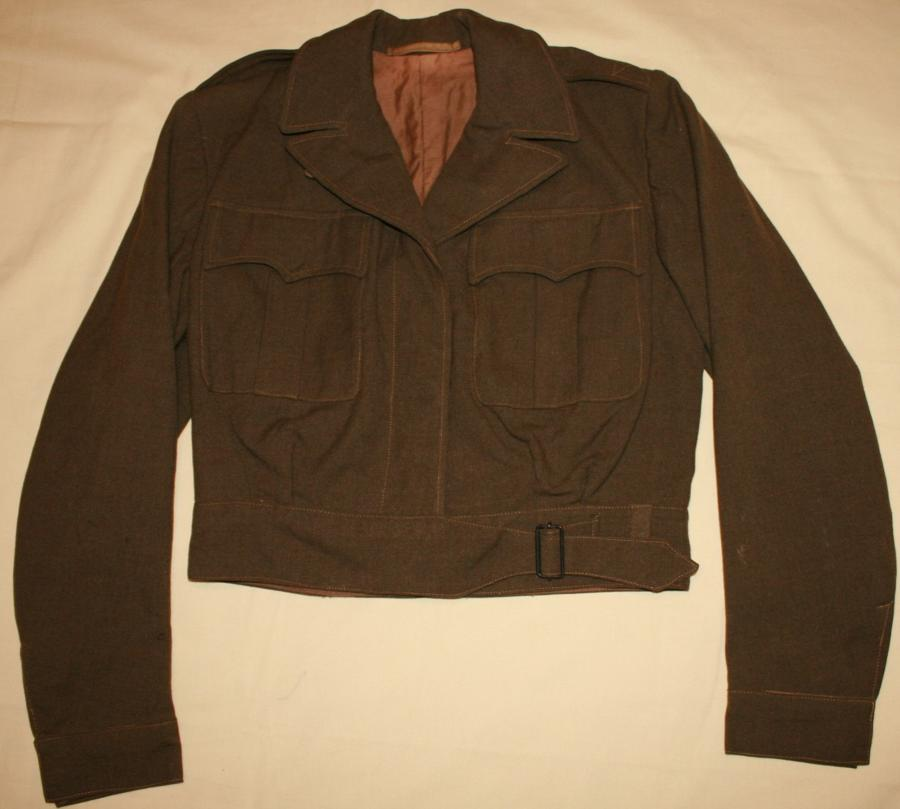 A BRITISH MADE ( DUBLIN IRELAND ) ETO WAC JACKET