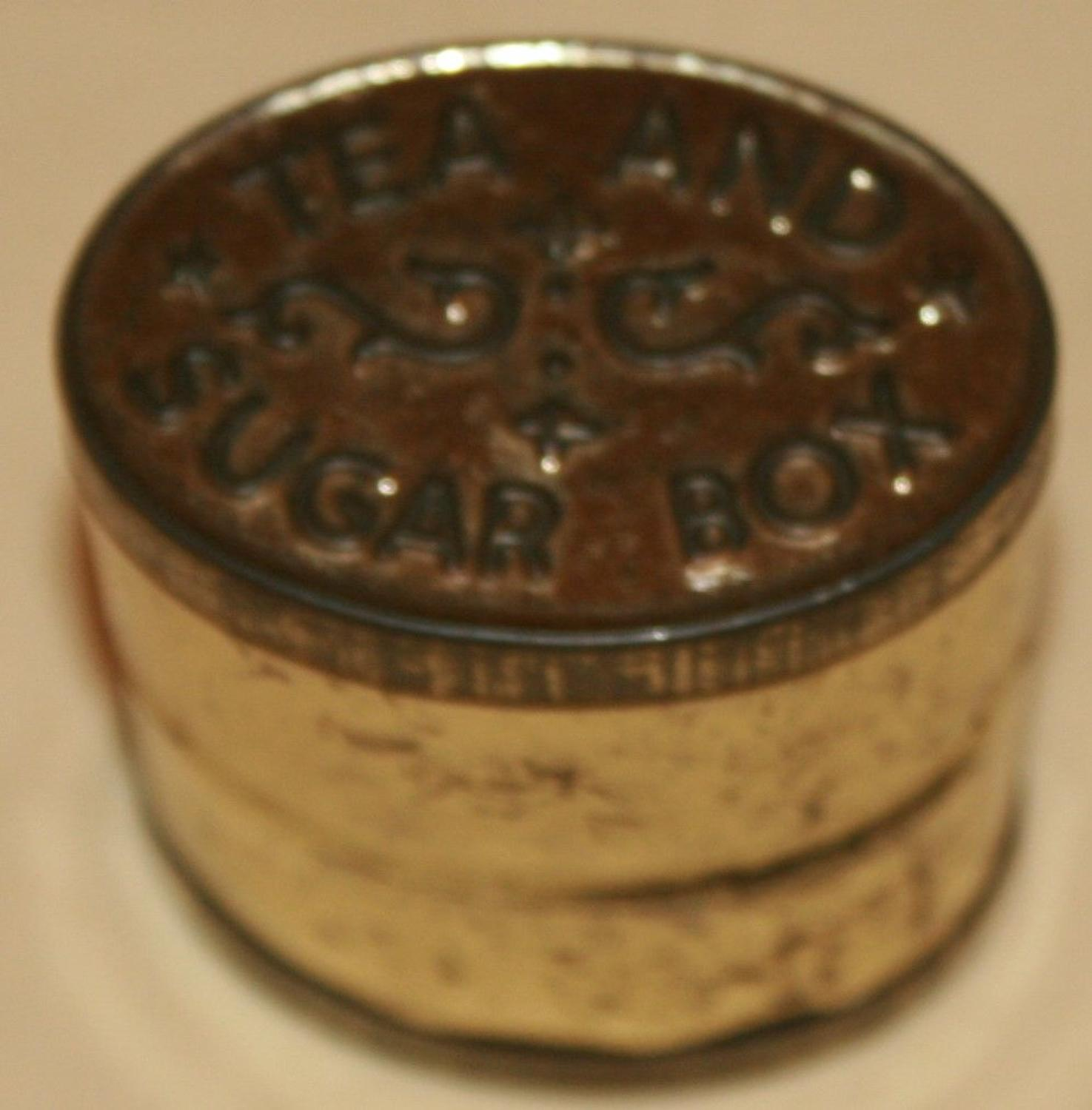 A WWI / WWII TEA AND SUGAR TIN