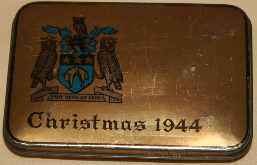 A RARE WWII 1944 LIVERPOOL CHRISTMAS TIN
