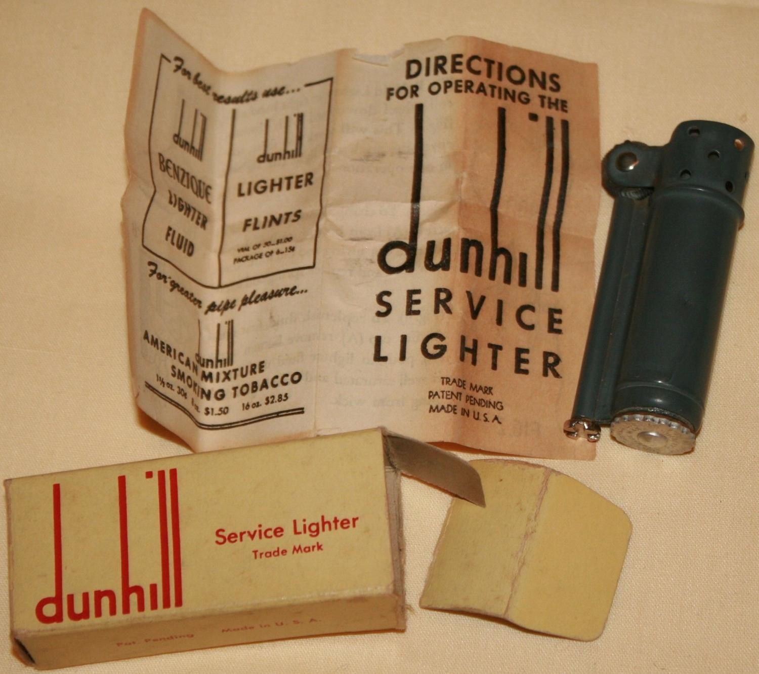 A WWII PERIOD DUNHILL SERVICE LIGHTER