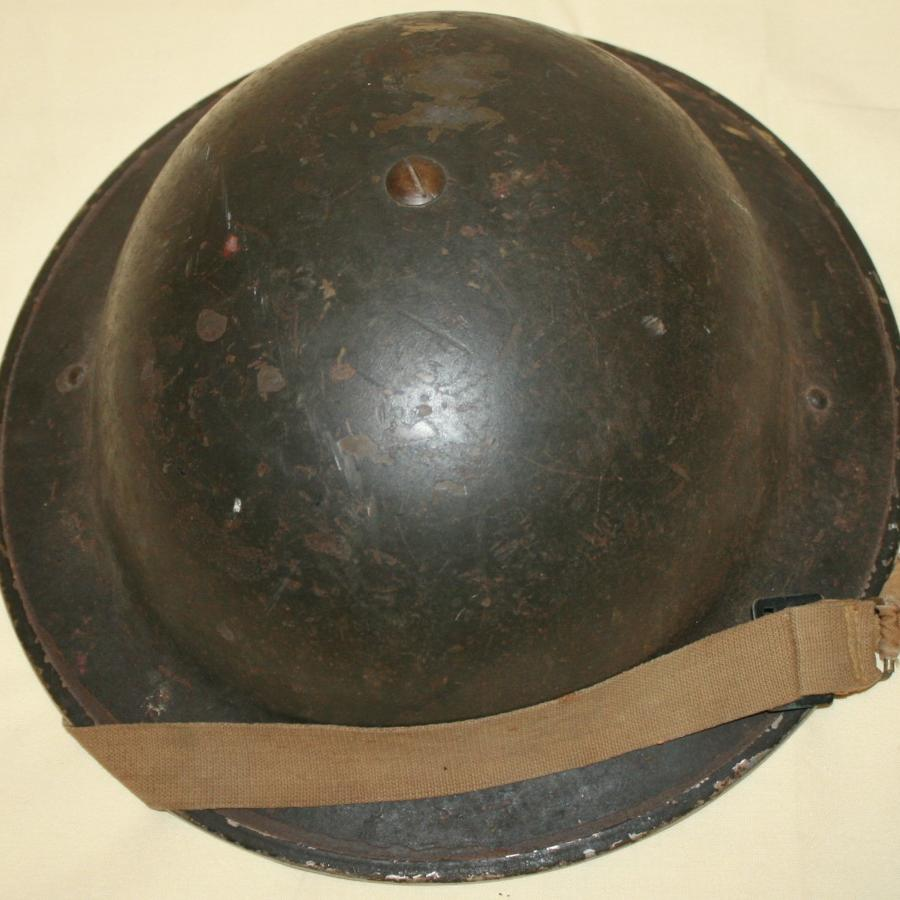 A WWII CANADIAN HELMET