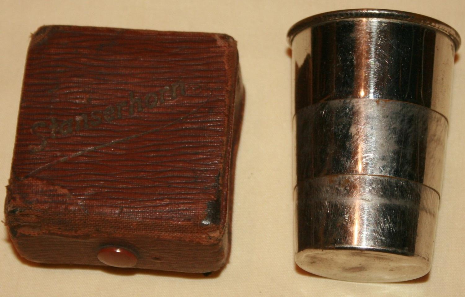 A WWI PERIOD SMALL EXTENDABLE BEAKER
