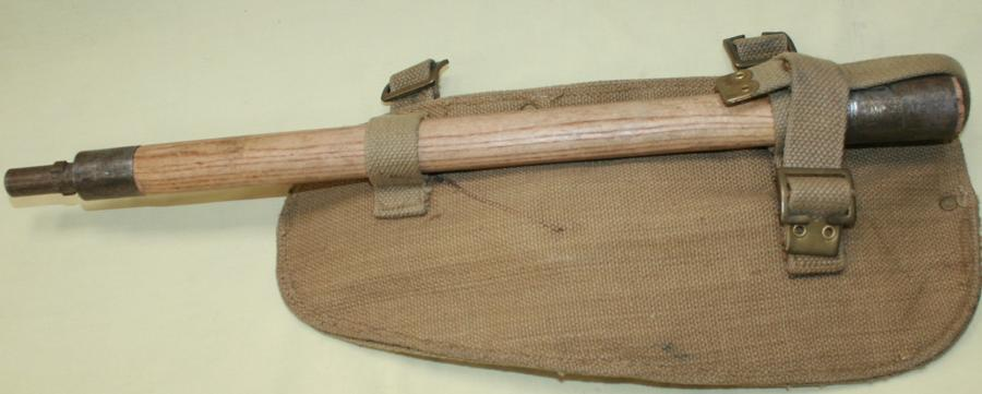 A 37 WEBBING LATE WAR ENTRENCHING TOOL