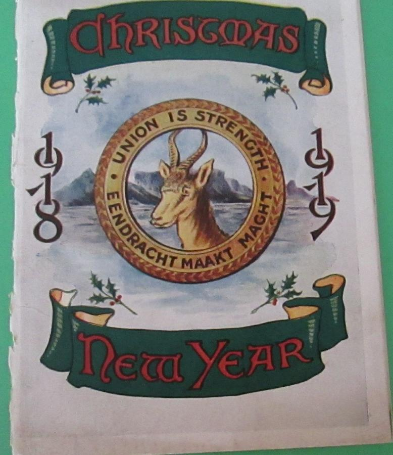 A SCARCE LATE WWI 1918-19 SOUTH AFRICAN CHRISTMAS CARD