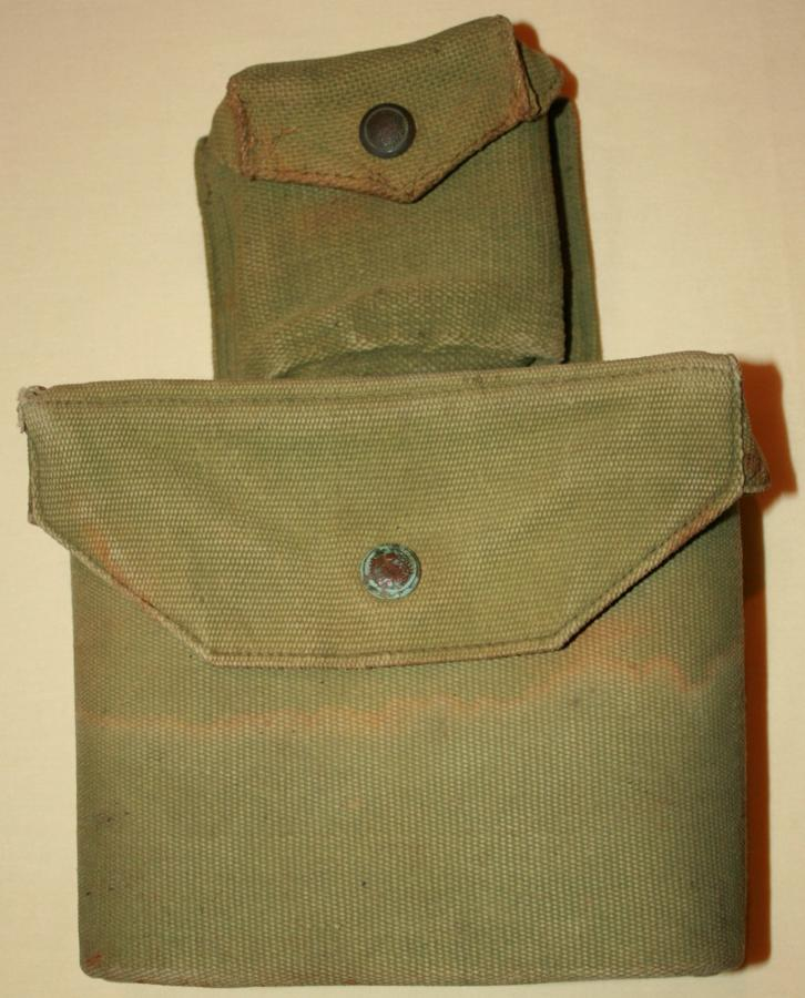 A GOOD USED PRE WWII OFFICERS INFANTRY EQUIPMENT BINOCULAR CASE