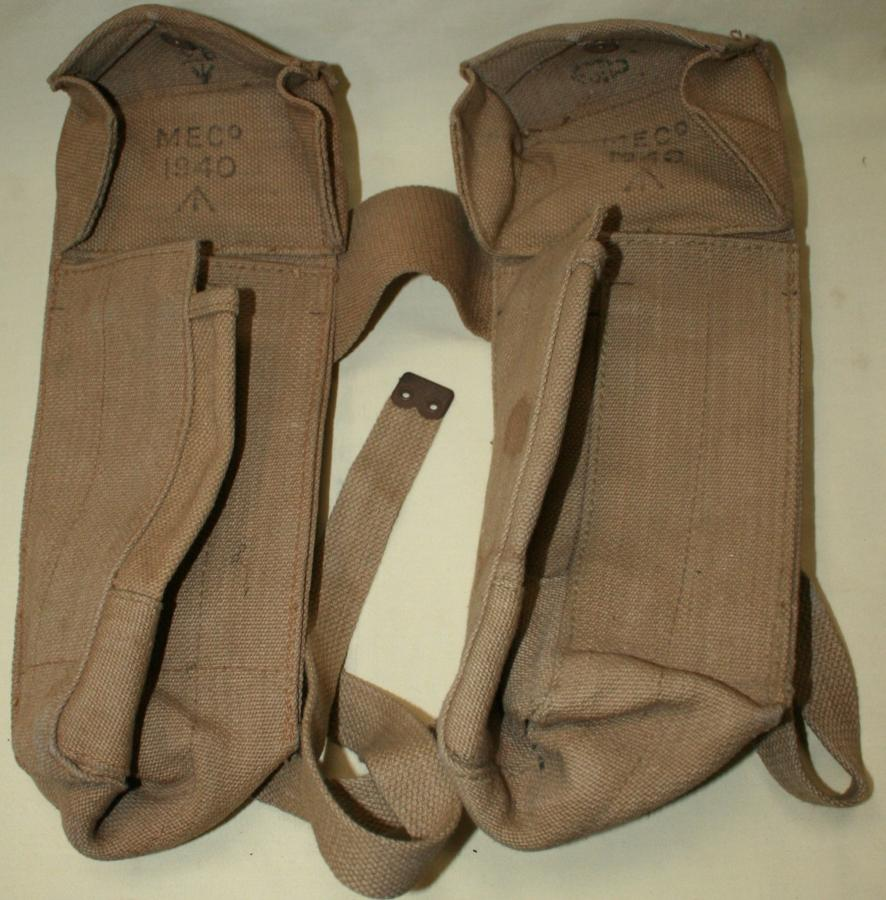 A PAIR OF 1940 DATED BREN POUCHES