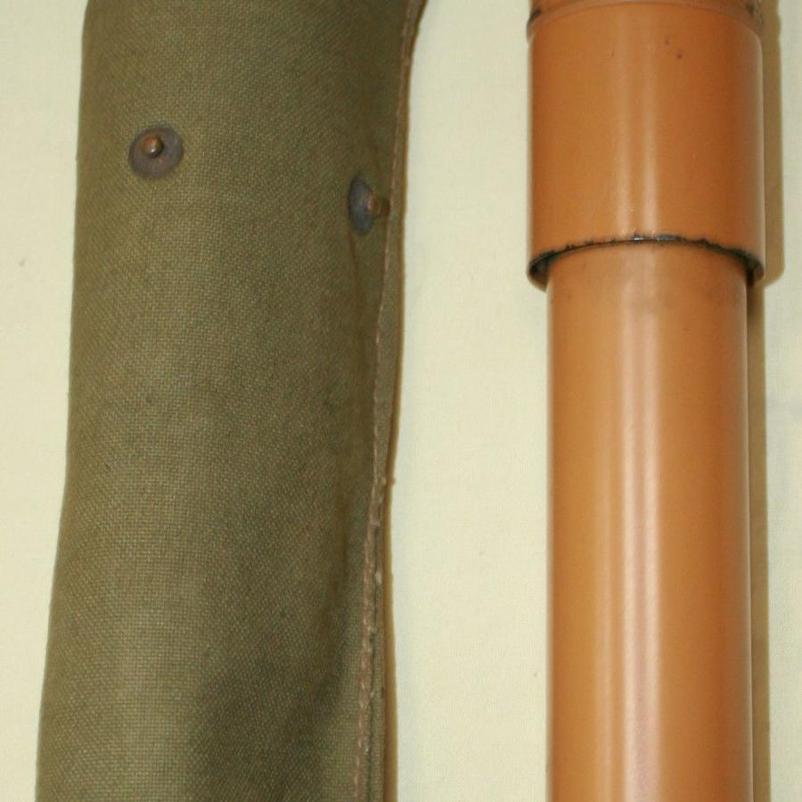A WWII GAS IDENTIFICATION PUMP AND POUCH