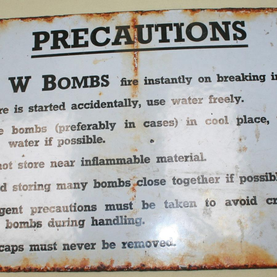 A WWII AW BOMB NOTICE