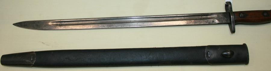 A 1918 DATED SANDERSON 07 BAYONET