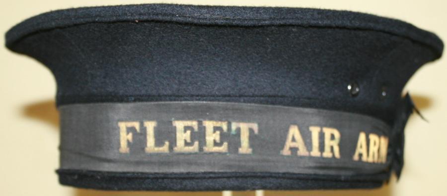 A WWII PERIOD FLEET AIR ARM SAILORS HAT
