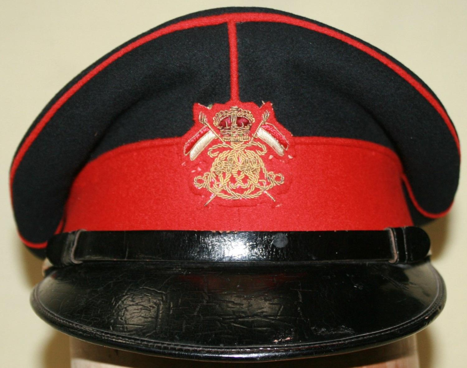 A POST 1953 QUEENS OWN LANCERS OFFICERS CAP