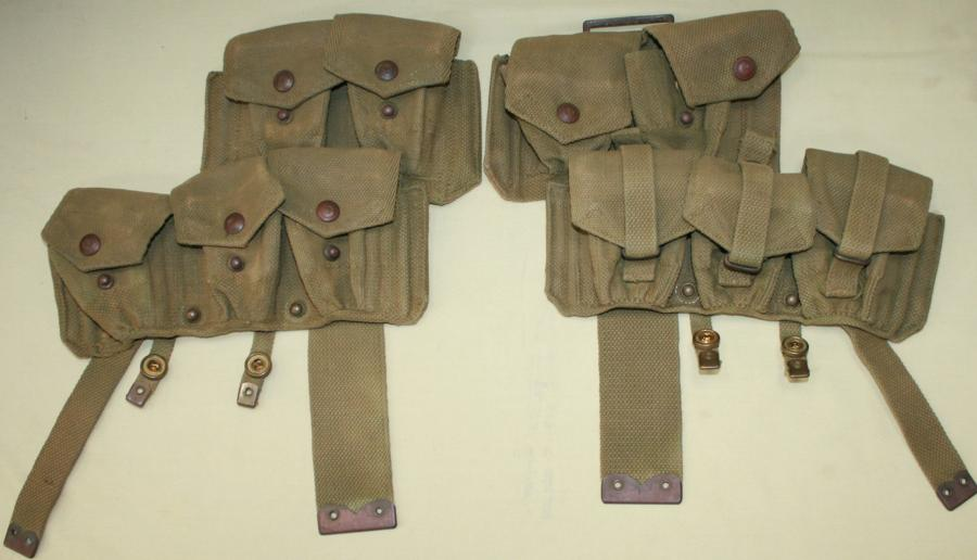 A RARE WWII PAIR OF 08 AMMO POUCHES