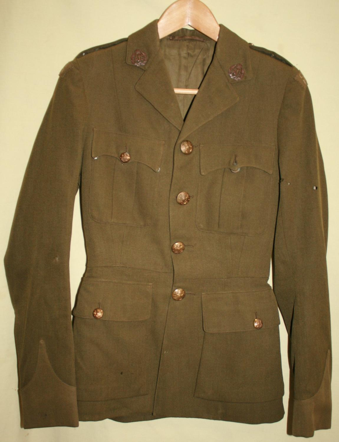 A WWII ATS OFFICERS CHANNEL ISLANDS UNIFORM