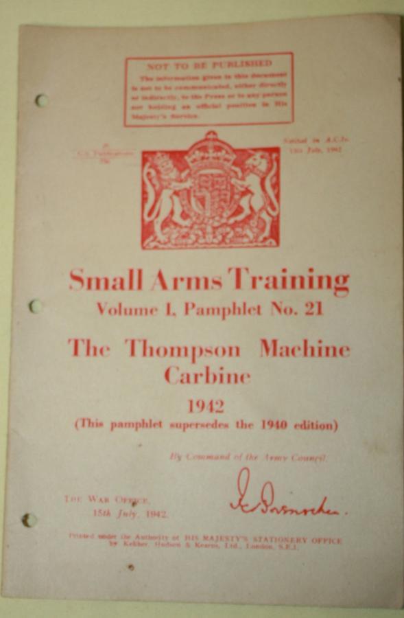 A THOMPSON MACHINE GUN PAMPHLET