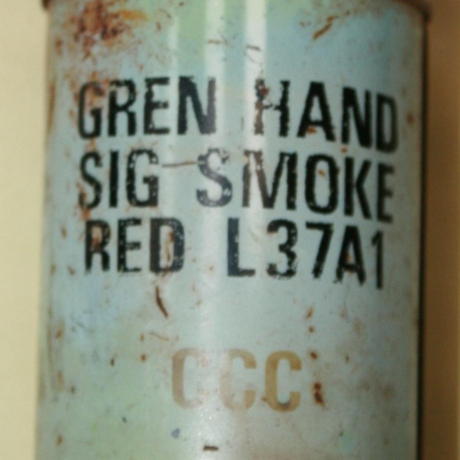 A USED 1970'S SMOKE GRENADE SCREW CAP TYPE