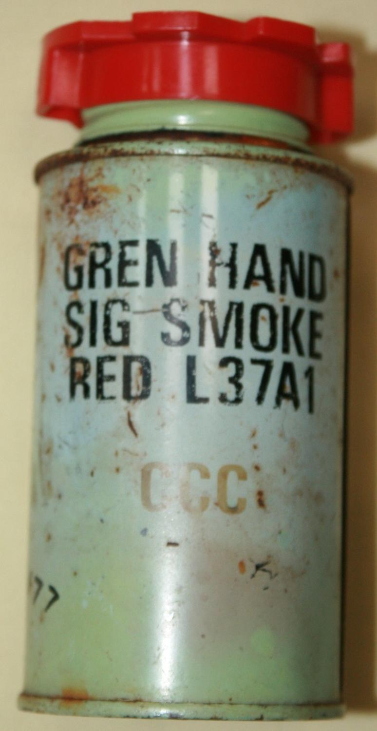 A USED 1970'S SMOKE GRENADE SCREW CAP TYPE