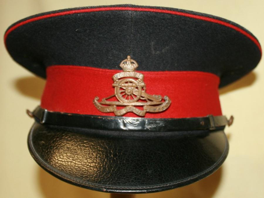 A INTER WAR RA WARRANT OFFICERS PEAKED CAP