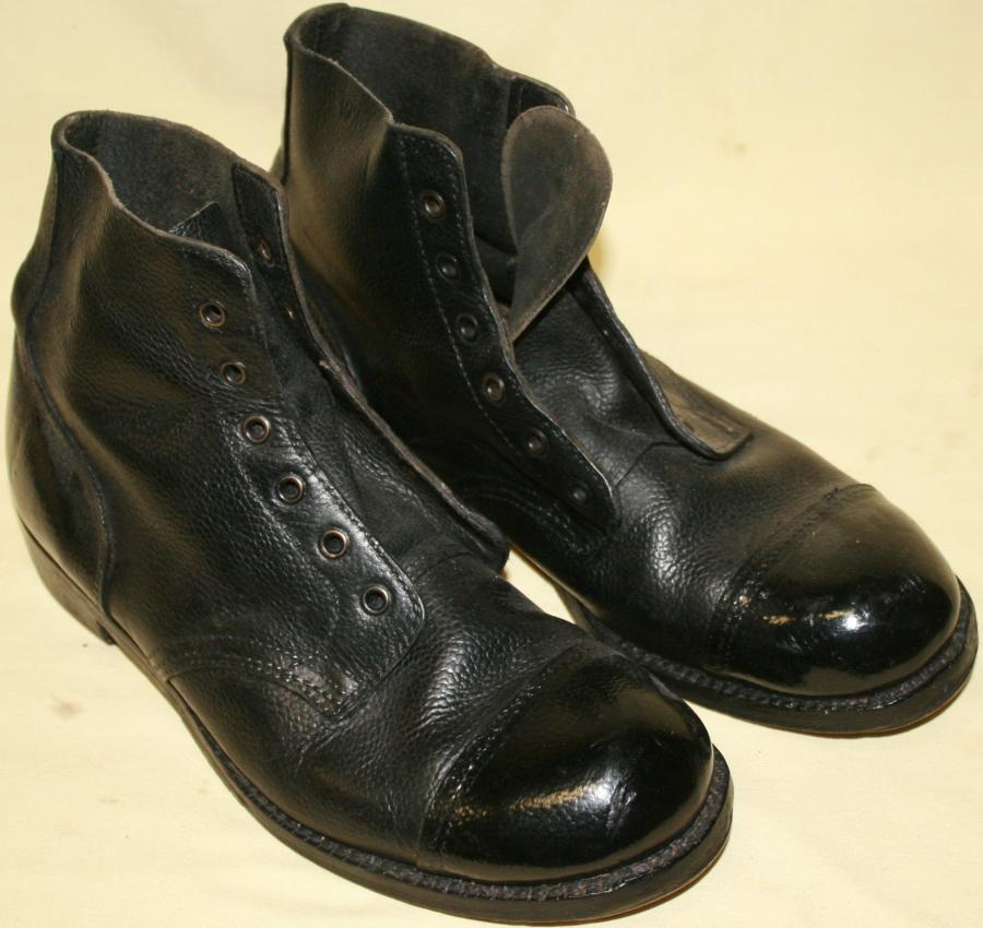 A PAIR OF SIZE 8M HOB NAIL BOOTS 1954 DATED