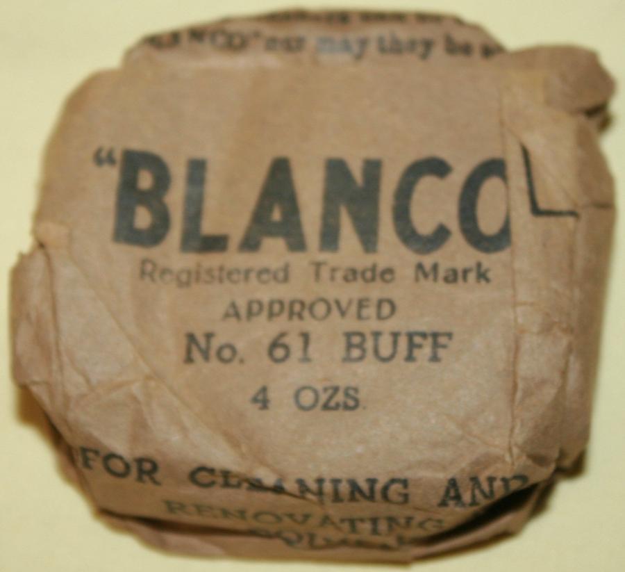 AN ORIGINAL WWII BLOCK OF BUFF BLANCO NO 61 KHAKI