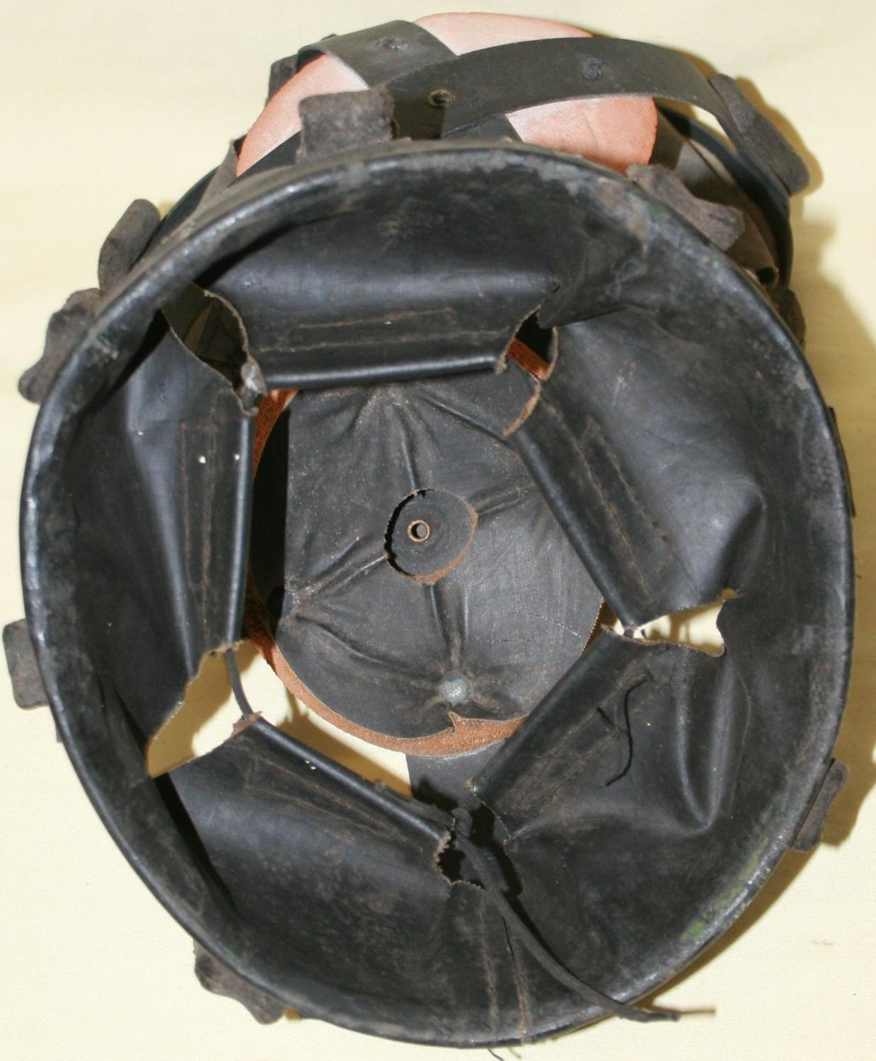 A MINT 1938 DATED HELMET LINER SIZE 7 EXAMPLE
