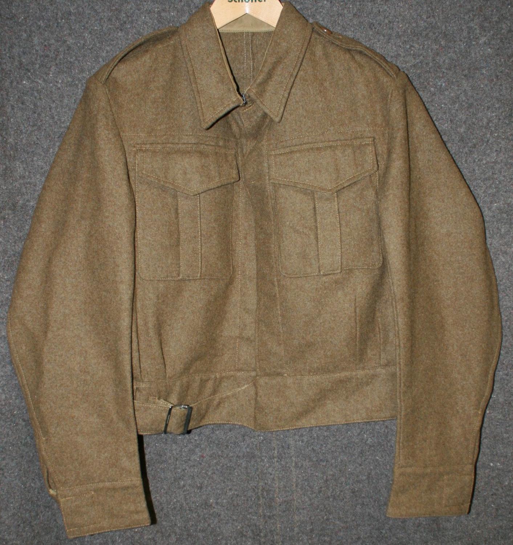 A 1937  PATTERN BATTLE DRESS JACKET SIZE 13 EXAMPLE