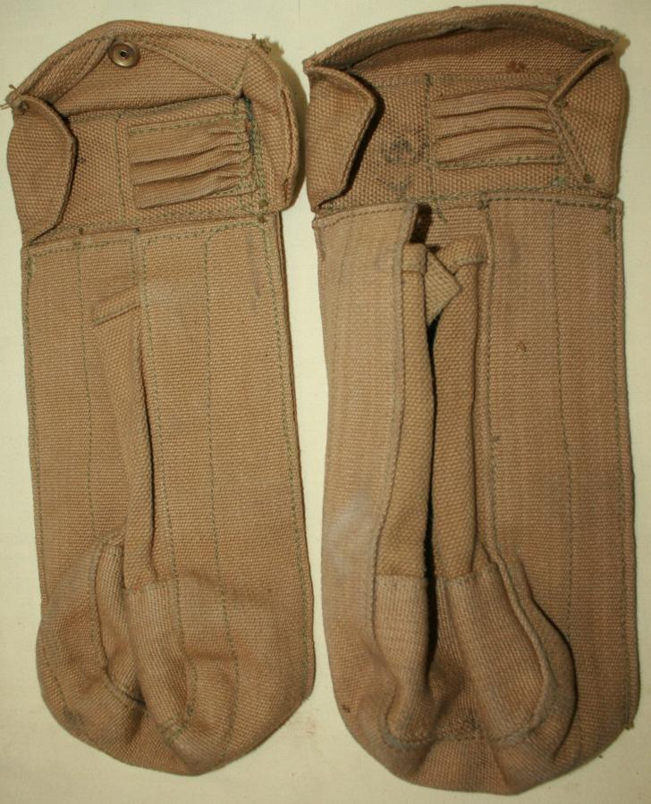 A NEAR MINT PAIR OF THE SMALL SIZE CANADIAN PATTERN AMMO POUCHES
