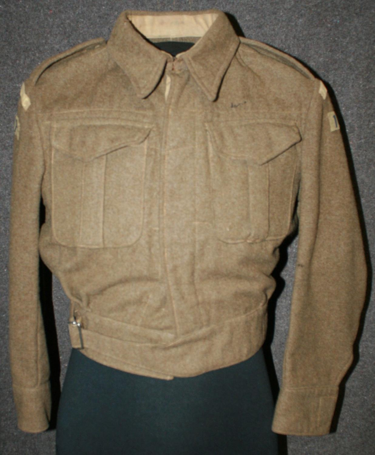 A 1941 DATED ROMSEY BATTALION HOME GUARD BATTLE DRESS BLOUSE