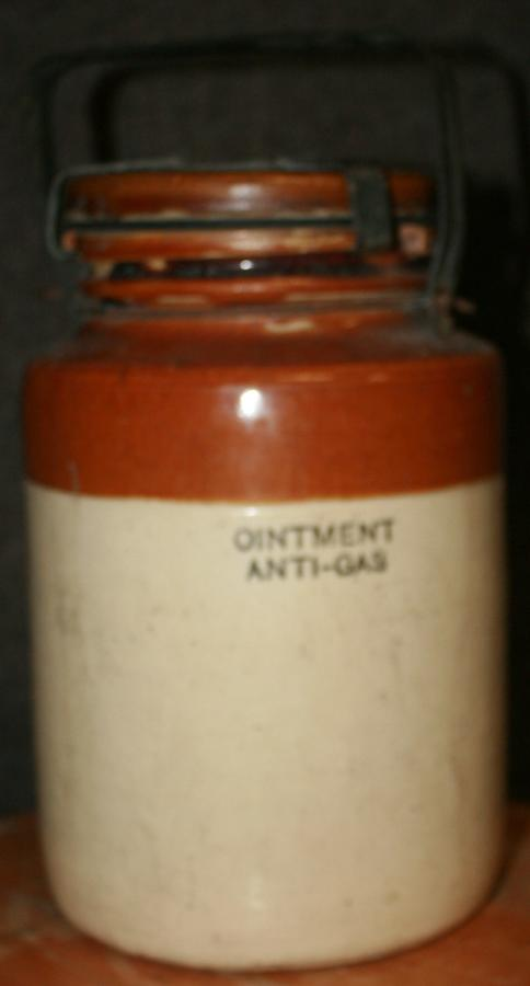 A WWII ARP ANTI GAS OINTMENT JAR