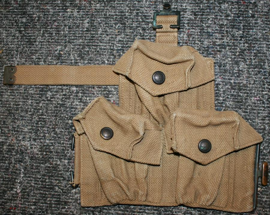 A 1916 MILLS EQUIPMENT RIGHT HAND SIDE AMMO POUCH
