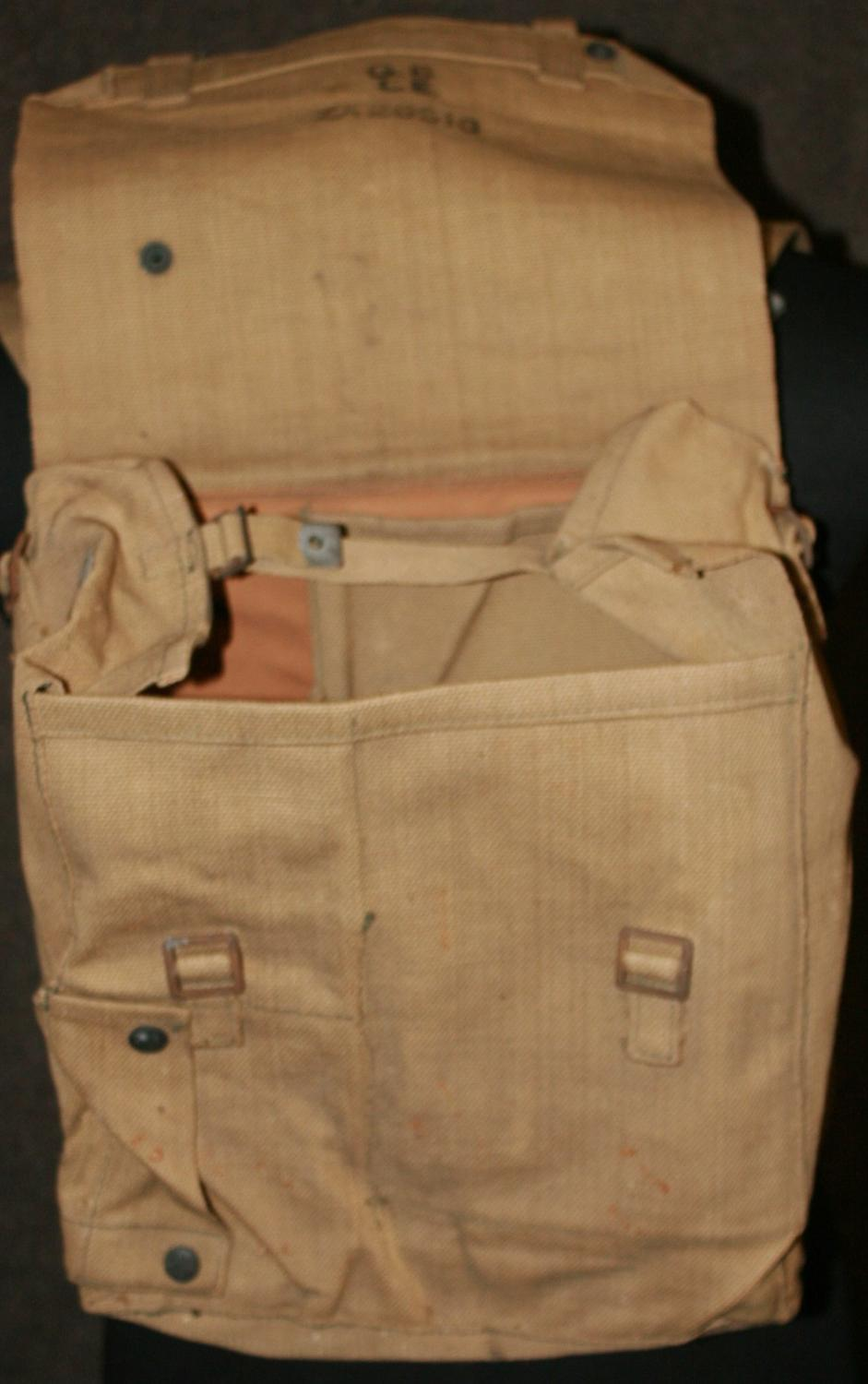 A WWII RADIO PACK NUMBERED ZA26516