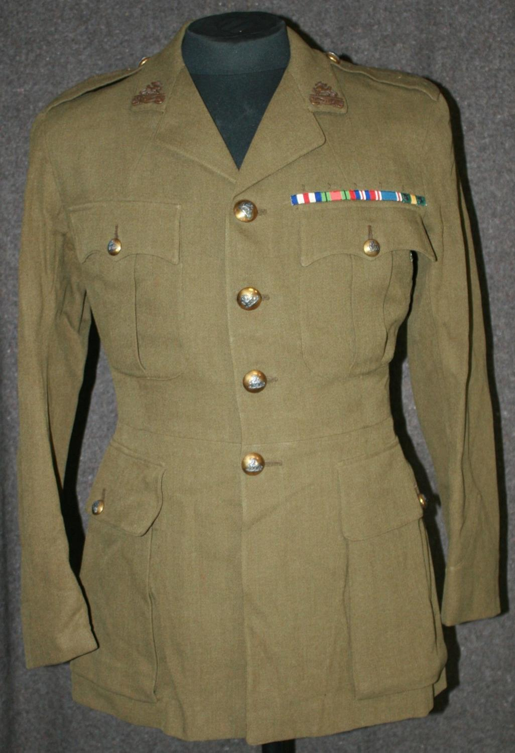 A NAMED 1939 DATED OFFICERS SERVICE DRESS TUNIC