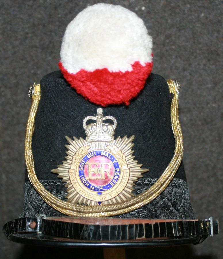 A ROYAL CORPS OF TRANSPORT BAND SHAKO HELMET