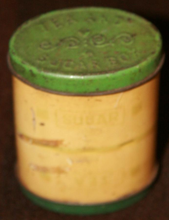 A TEA AND SUGAR TIN