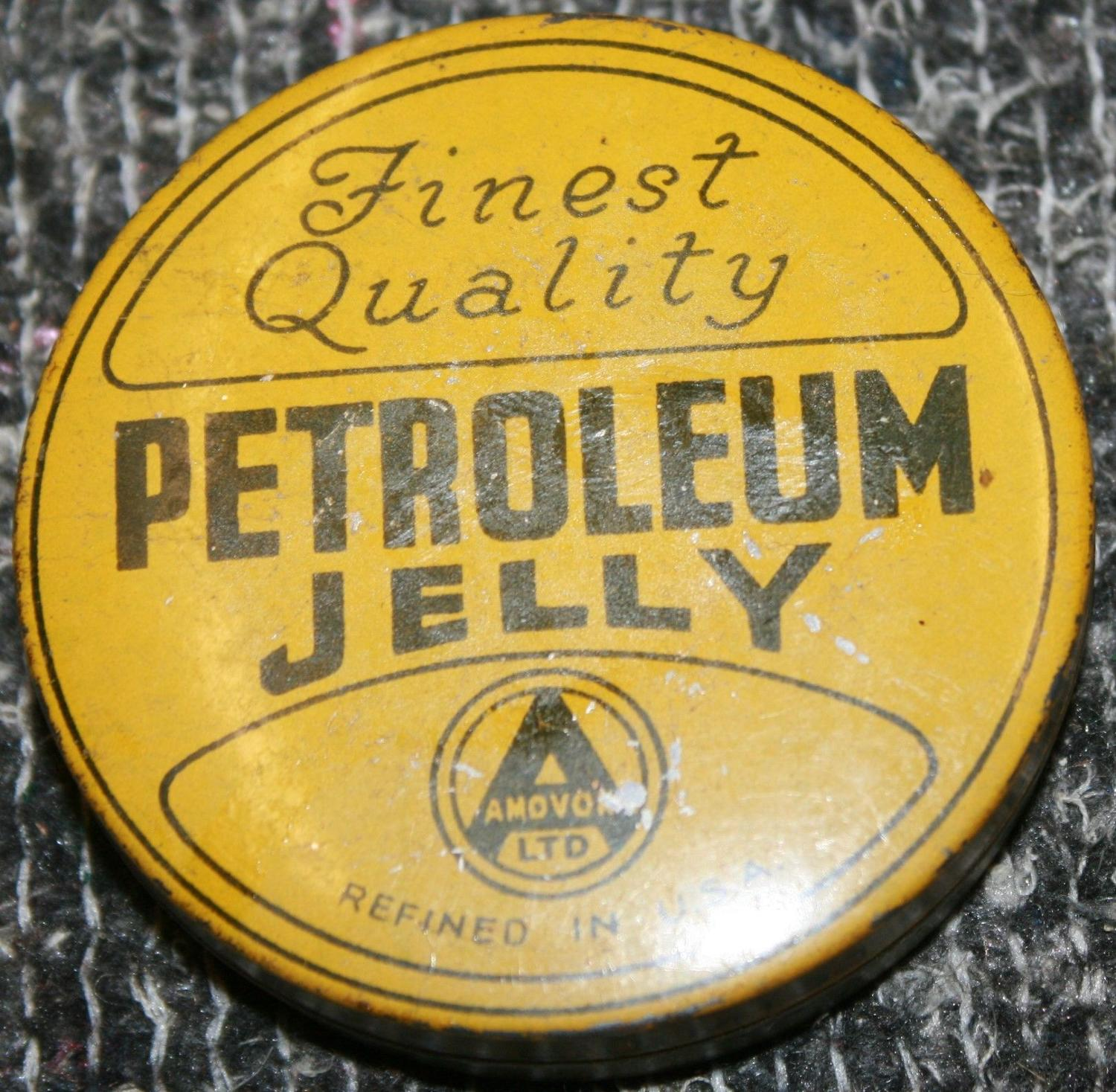 A TIN OF WWII PERIOD PETROLEUM JELLY