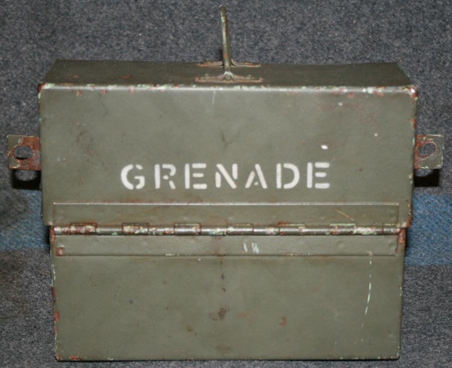 A VEHICLE'S GRENADES TIN WHICH HOLDS 3 GRENADES