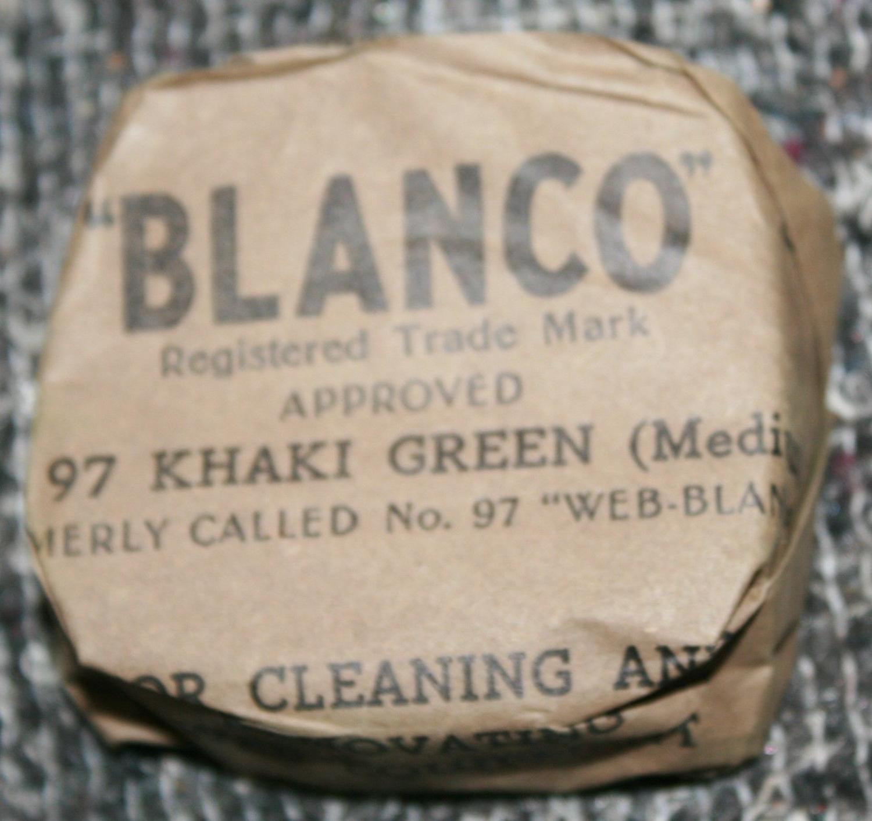 A BLOCK OF EARLY WWII BLANCO 97 KHAKI GREEN