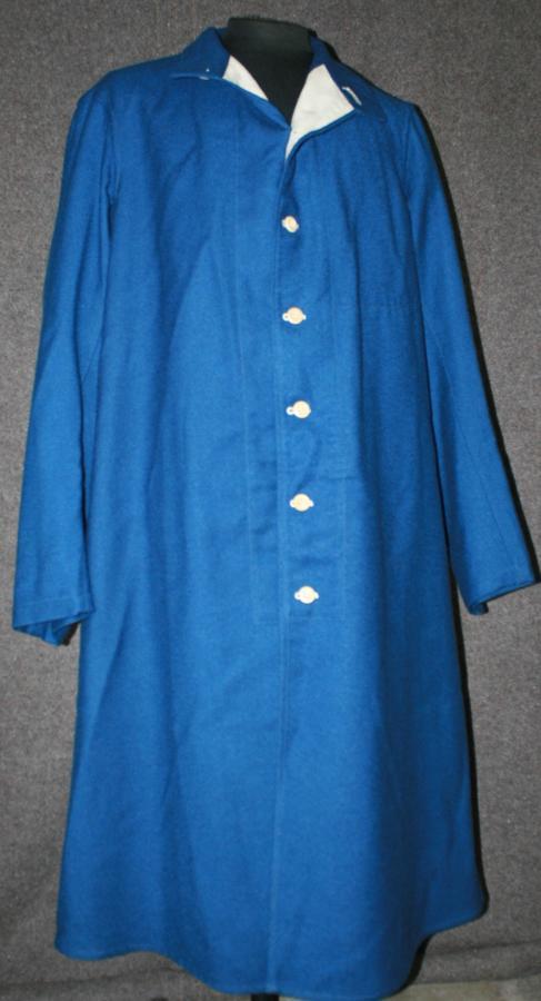 A RARE WWII HOSPITAL BLUES LONG COAT