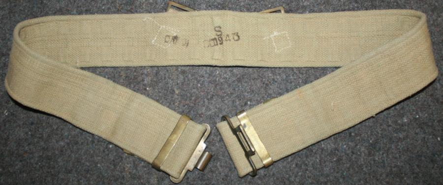 A 1943 DATED INDIAN 37 PATTERN WEBBING BELT