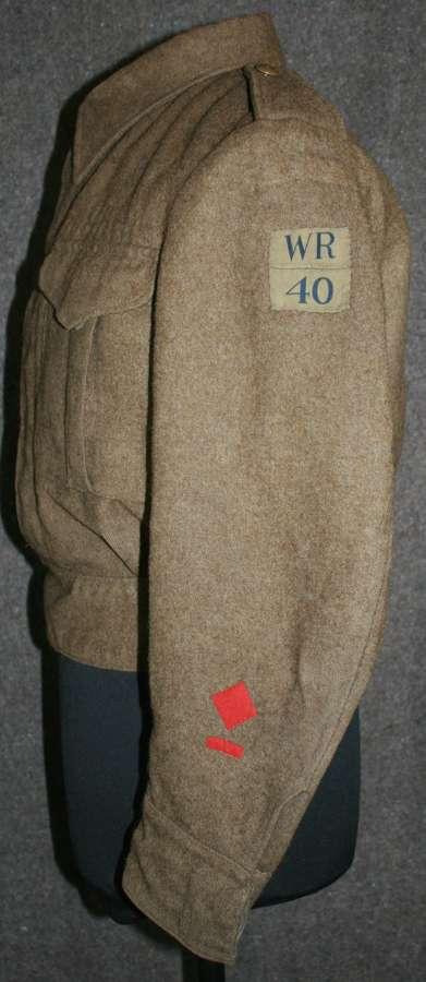A WEST RIDING HOME GUARD BATTLE DRESS SERG BLOUSE
