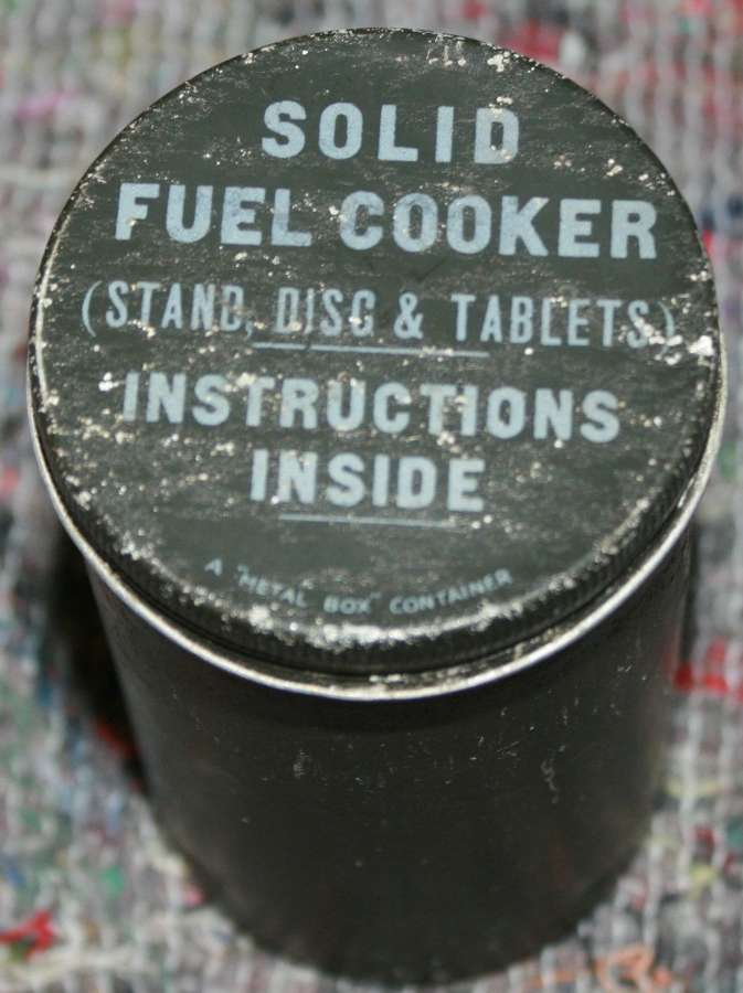 A SOLID FUEL COOKER TIN