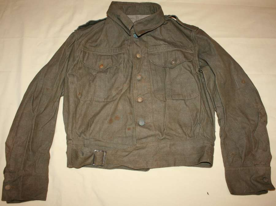 A WWII DENIM BLOUSE ROYAL MARINE USED