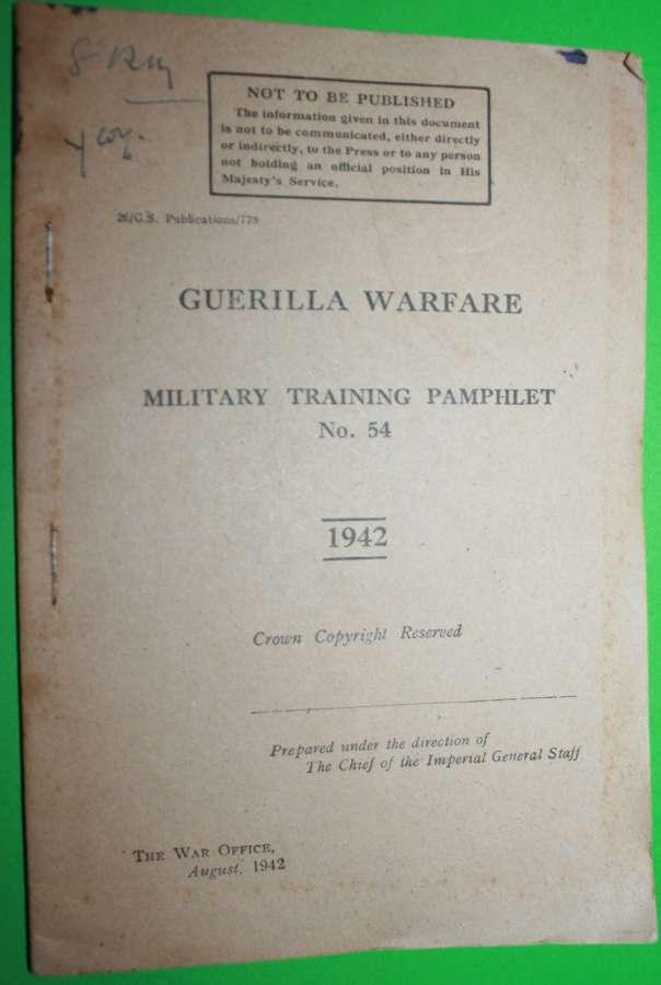 MILITARY TRAINING PAMPHLET NO 54 GUERILLA WARFARE